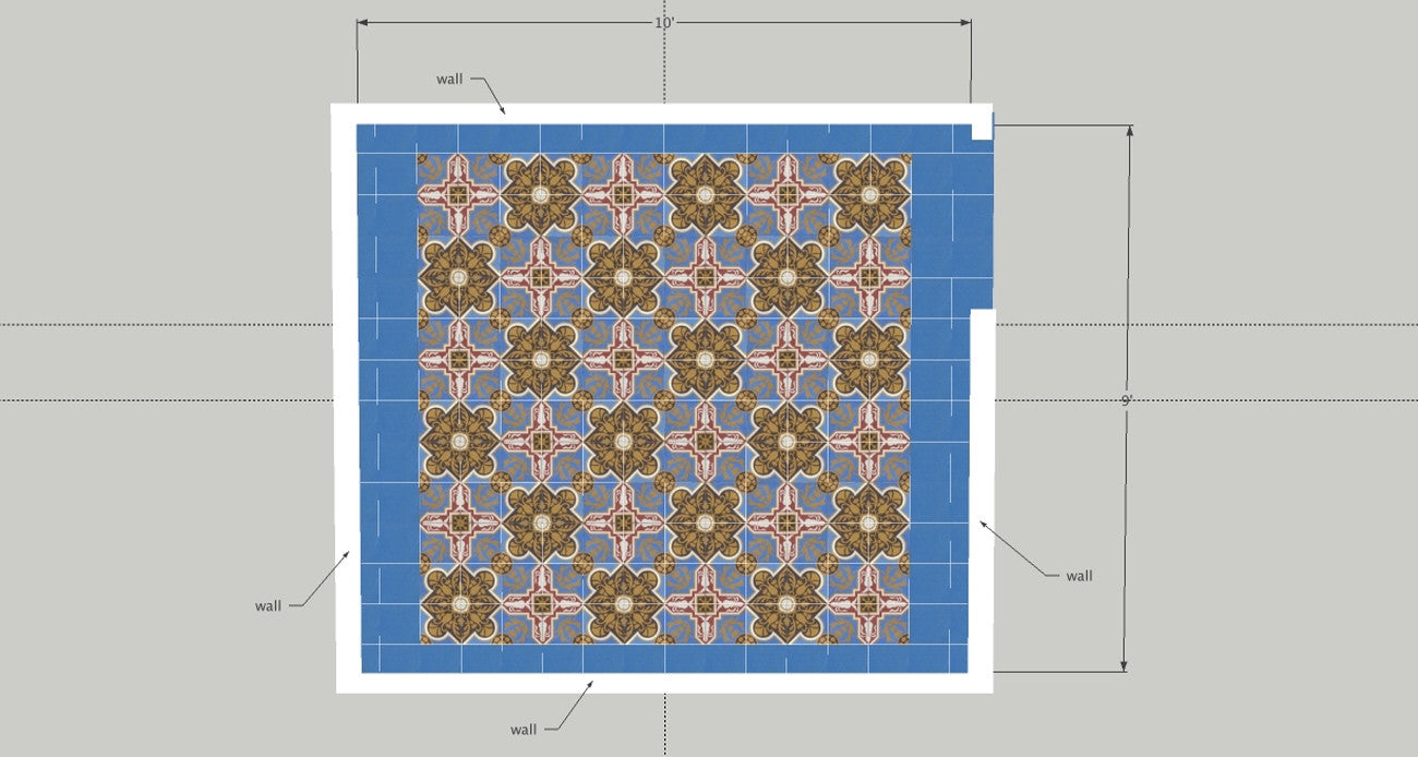 Cement Tile Layout - Step 5