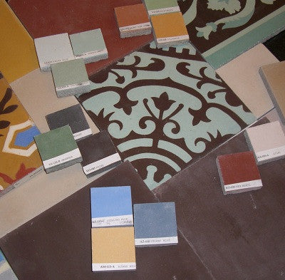 Patterned Cement Tiles can be Customized to create bespoke designs