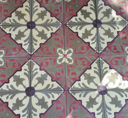 Cement tiles come with slight imperfections because they are handmade