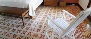 Cement Tile Adds Warmth to Bedroom Design