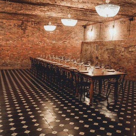 Cement Tile Floor Creates Elegant Banquet Hall For Brooklyn Hotel Avente Tile
