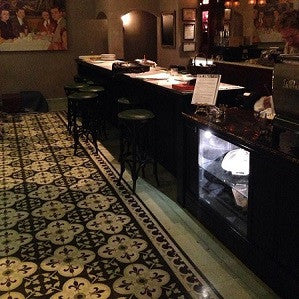 Cement Tile Provides Traditional Look with Fresh Colors for French Bistro