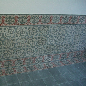 Cement Tile for Wainscoting Wall Application