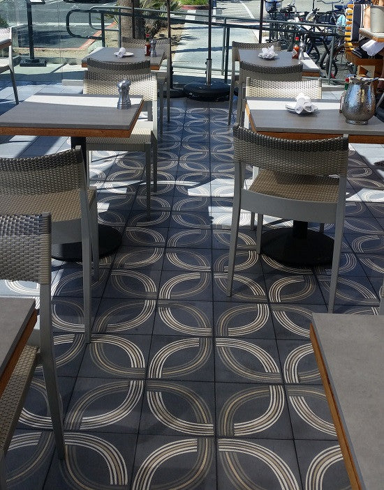 Cement Tile Create Perfect Patio For Seaside Grill Avente Tile