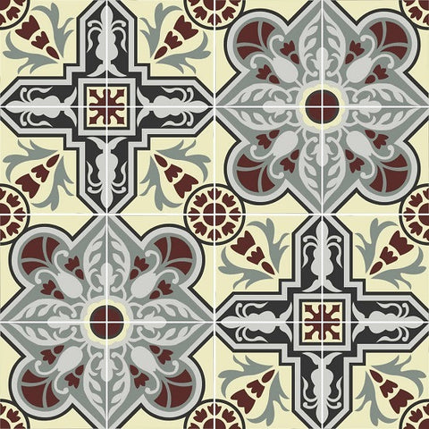 One Rendering of the Proposed Cement Tile Backsplash for the Kitchen Backsplash