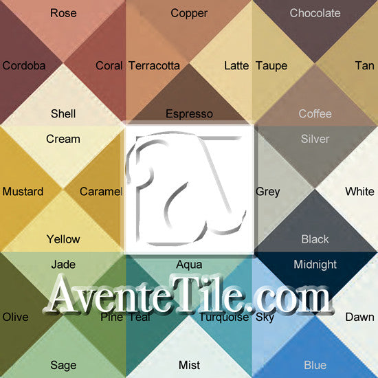 Classic Color Board with Color Names