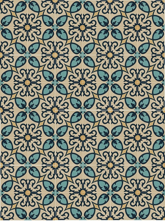 Cement Tile Pattern: Classic Firenze A