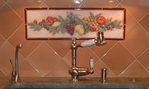 Classic Fruit & Vegetable Tile Mural for Kitchen Backsplash