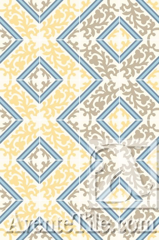 A Zig-Zag Pattern is created using the Cuban Heritage Design 260 2B