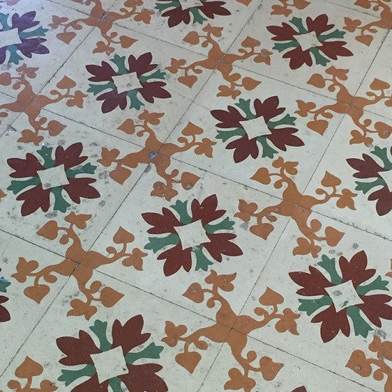 A more straight-forward Cuban tile pattern