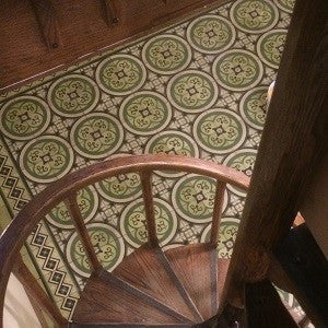 Cuban Cement Tile Rug with Wood