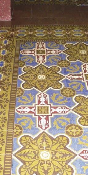 Cuban Tiles in a House in Old Havana Typical Double Border and Bright Colors Photo Courtesy of Aguayo Tile