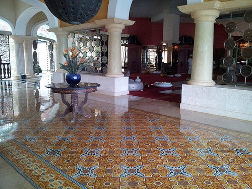 Cuban Cement Tile CH110-3B Rug Pattern for Hotel Lobby