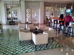 Custom Cement Tile Pattern Creates Contemporary Clubhouse Charm