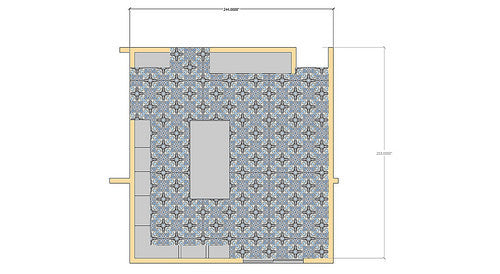 Detailed Layout for a Kitch