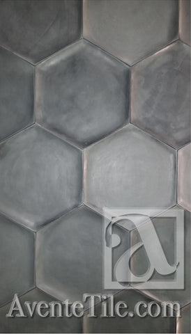 Elevations Concave Hexagon Relief Wall Tile & Hexagon Cement Tile Buying Guide \u2013 Avente Tile