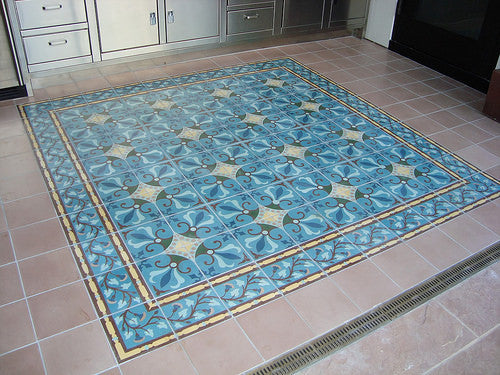 Encaustic Cement Tile Rug