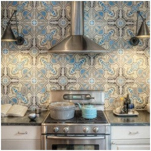 Find the right scale of patterned tile to fit your space.