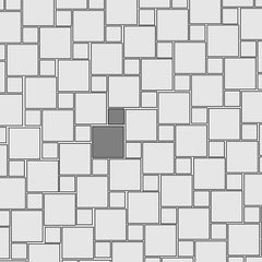 Floor Tile Pattern No. 1 (20% 6x6 and 80% 12x12)