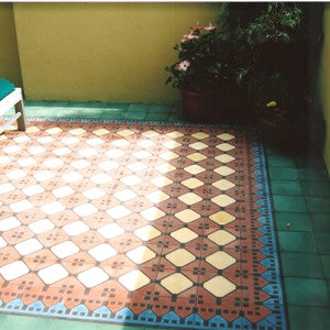 Granada Cement Tile Border & Patio