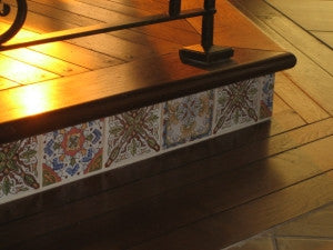 Hand-Painted Spanish Ceramic Tile Risers
