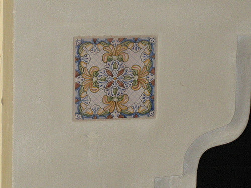 Hand Painted Spanish Tile Accents used for Fireplace