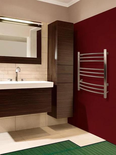 Heated Bathroom Flooring Cutaway. Image courtesy