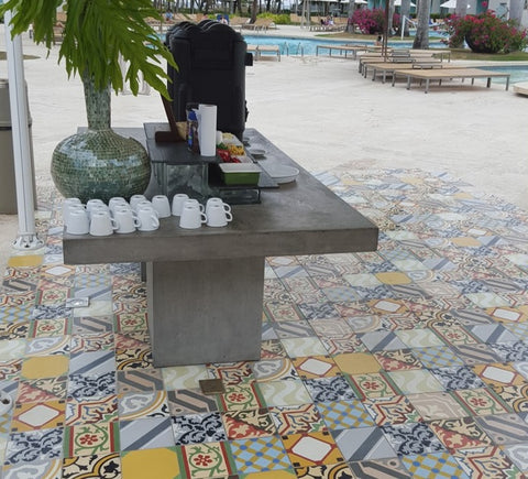 Cement Tile Patchworks Make Any Space for Great for Entertaining