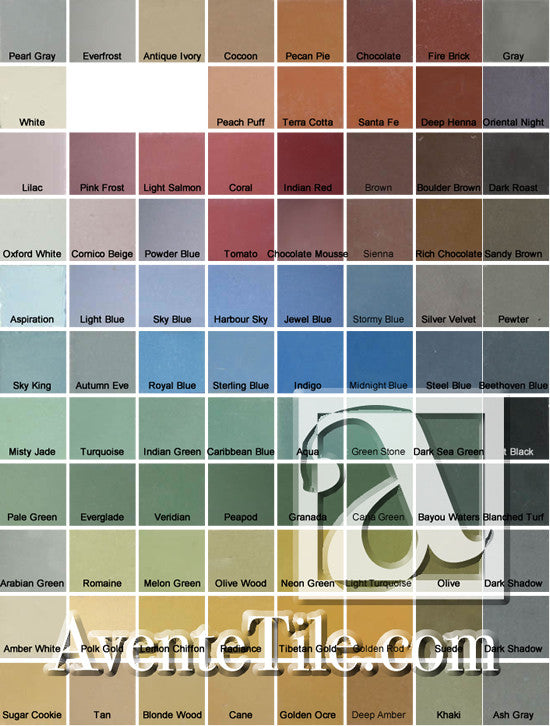 Heritage Color Palette Board Showing Colors and Names