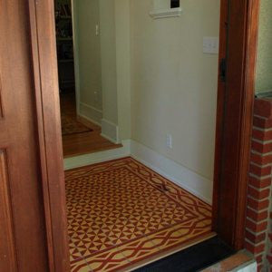 Inviting Cement Tile Foyer