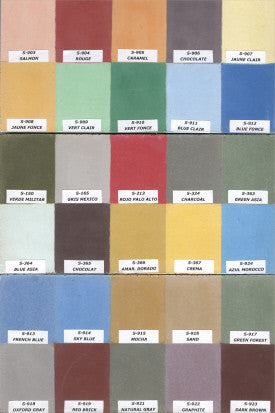 Mission Cement Tile Color Palette - Old Tables D, E, & F
