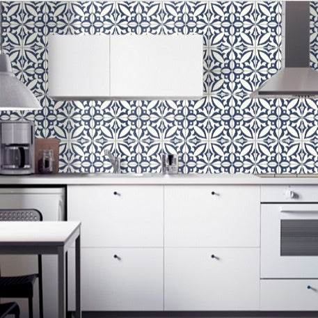 Mission Zebra B Provides a Bold, Graphic Look for this Kitchen Backsplash