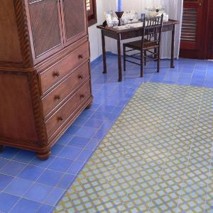 Moroccan Inspired Cement Tile Floor