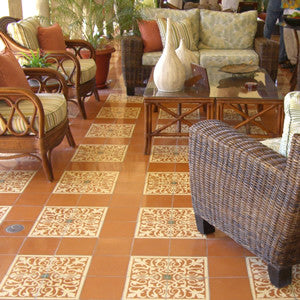 Old World Allure For A Patio With San Juan Cement Tile
