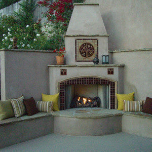 Outdoor Living Area with Pomegranate Mural