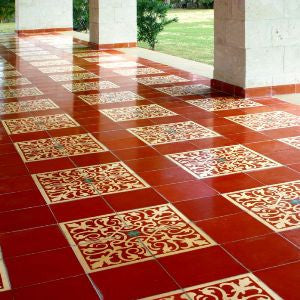 Patio Touts Old World Allure with Cement Tile