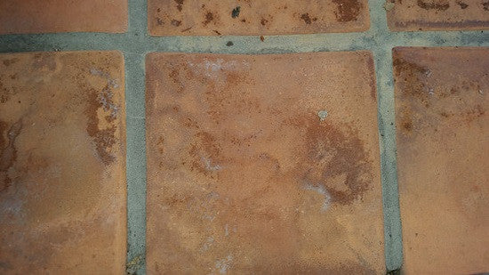 Mild Efflorescence found on Rustic Pavers used for an exterior walk
