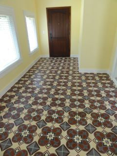 Recent Cuban Tile Installation in Florida Photo Courtesy of Avente Tile Customer