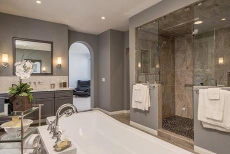 Recent bath remodeling project by Remodel Works.