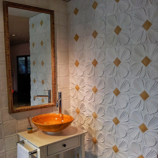 Relief cement wall tiles, Hispaniola, come in different patterns and colors