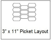 "3""x11"" Picket Layout Line Drawing"