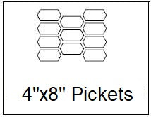 4x8 Picket Layout