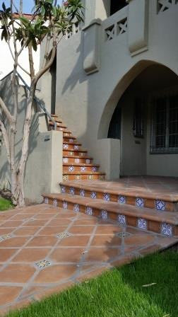 Saltillo tile pavers look great with Spanish-style homes