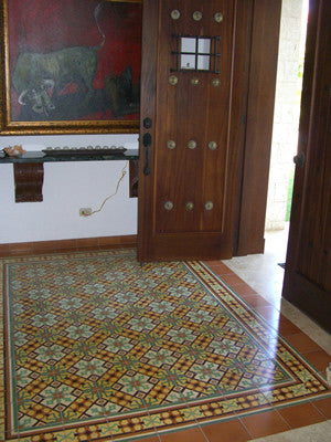 Santiago Cement Tile Rug Offers Warm Welcome