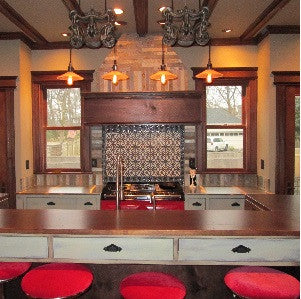 Shades of Red, Cement Tiles Tie a Kitchen's Design Together
