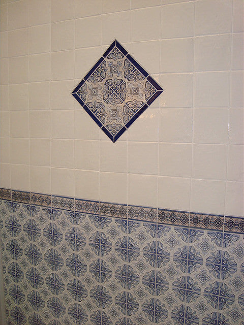 Feeling Inspired By This Spanish Bath Tile Installation Want To Learn More About Spanish Bath Tile Designs Spanish Bath Tile Patterns And See Completed