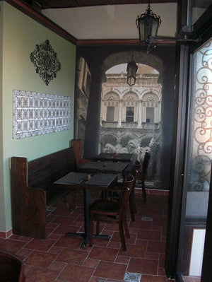 Spanish Tiles Create Cuban Cafe Ambiance