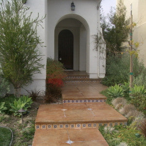 Spanish Tiles on Patio Risers