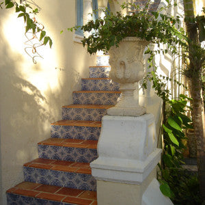 Spanish Tiles on Stair Risers