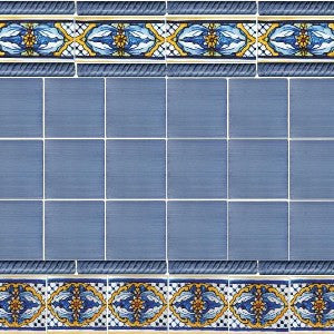 Spanish Valencia Tile with Brushed Navy